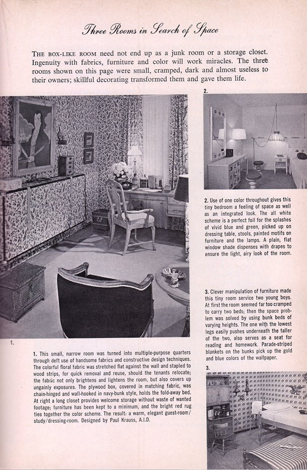 interior decorating with a print pattern