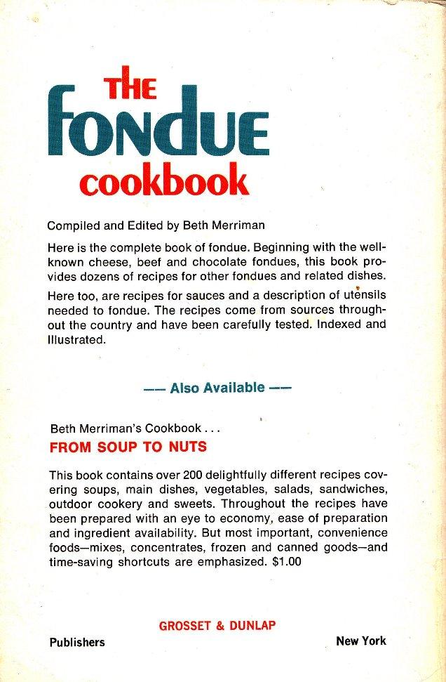 fondue cookbook back cover
