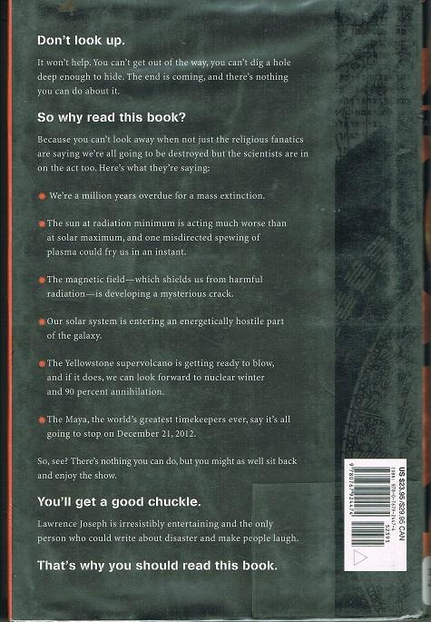 Apocalypse 2012 back cover