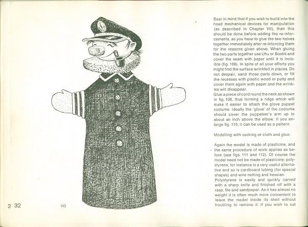 Ship captain puppet