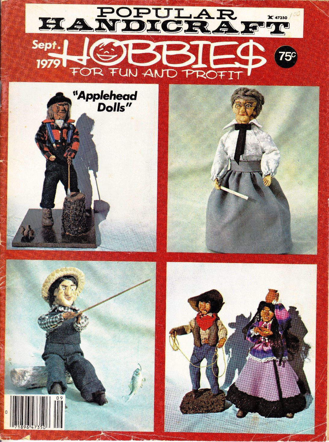 Hobby cover featuring applehead dolls