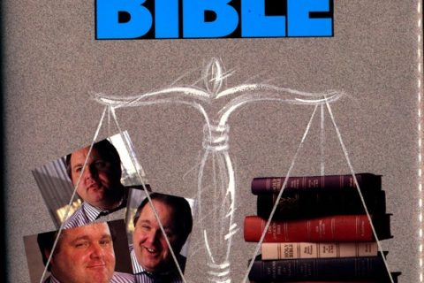 Rush Limbaugh and the Bible cover