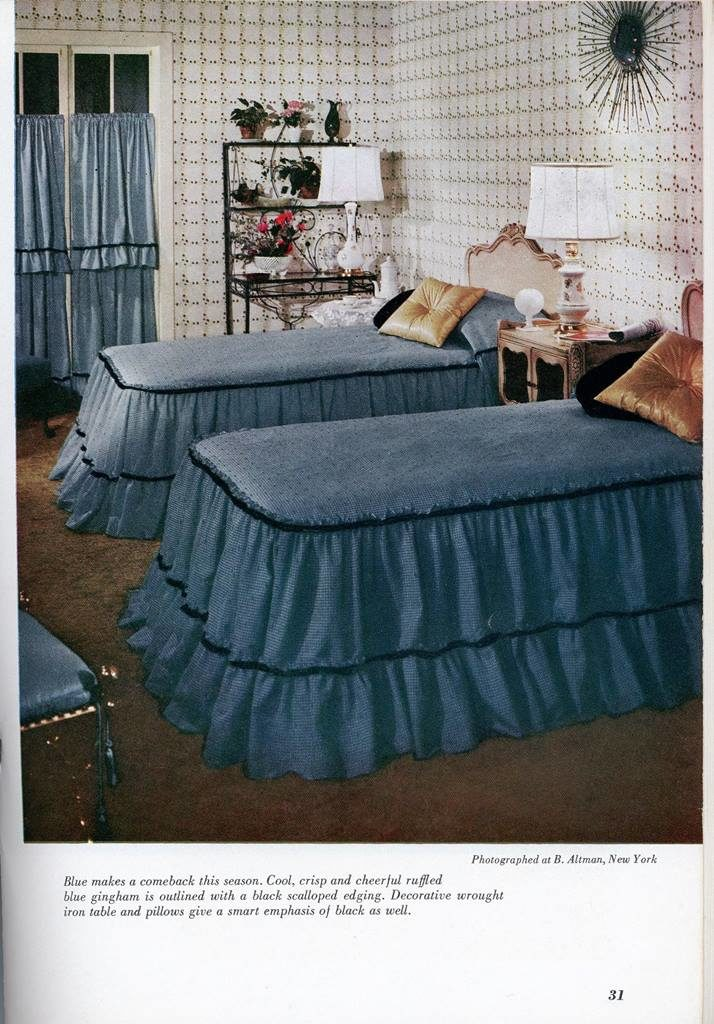 blue twin beds