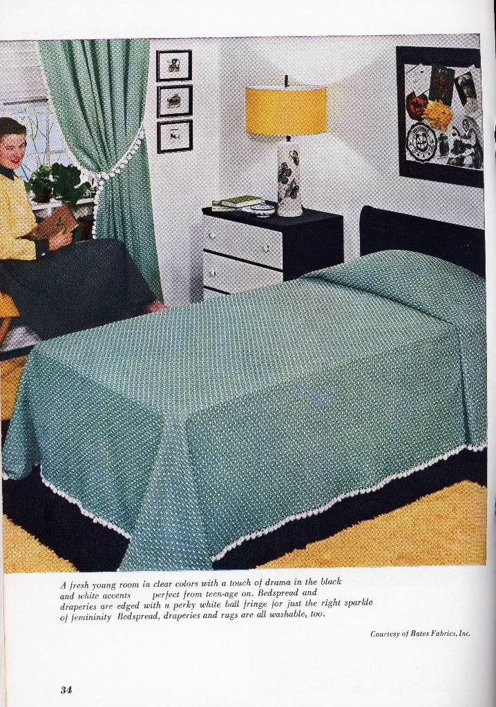 decorating a single bed with a green bedspread