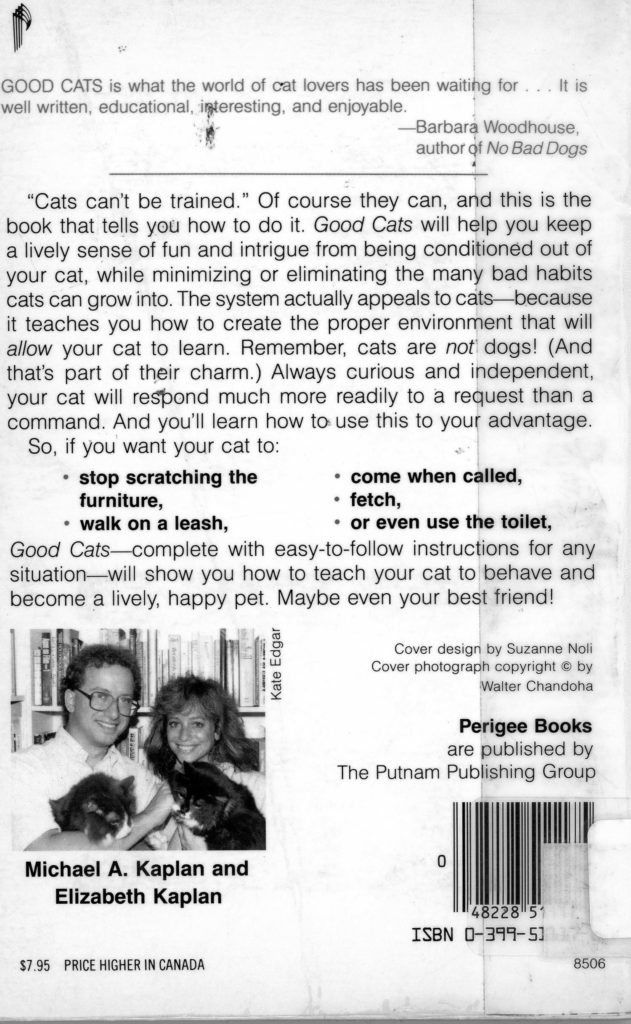good cats back cover
