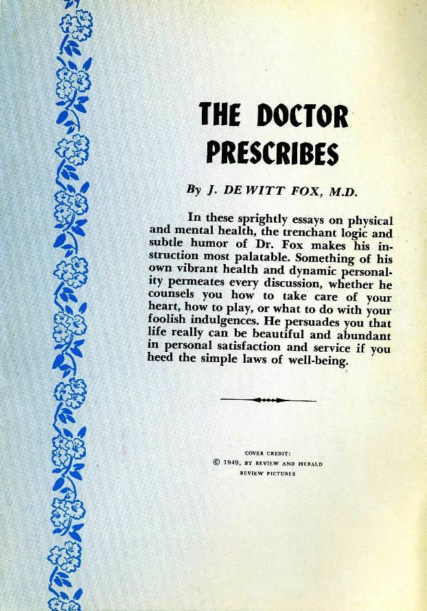 doctor prescribes summary