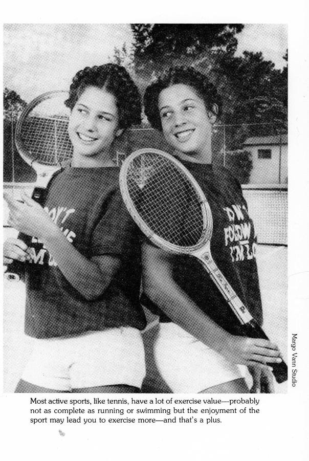 twins playing tennis