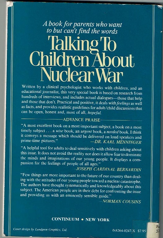 Talking to Children About Nuclear War back cover