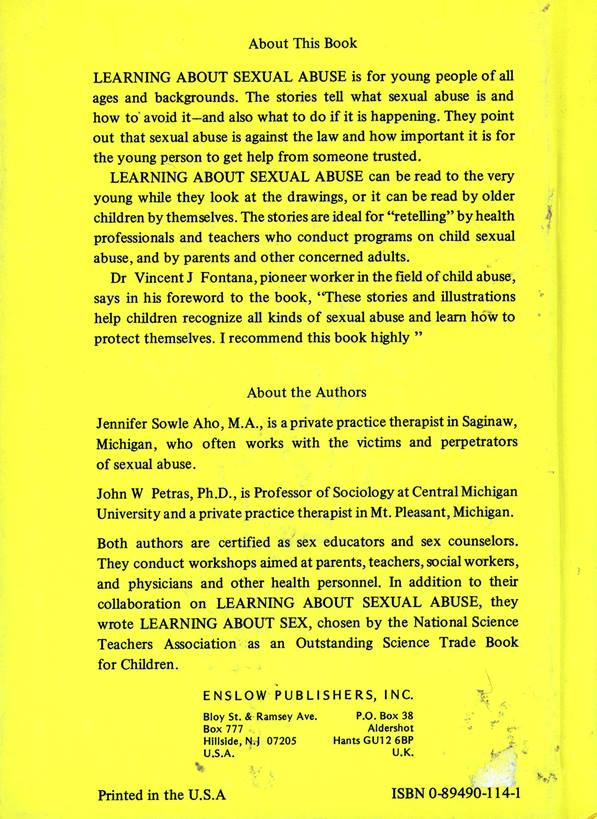 back cover and author bio