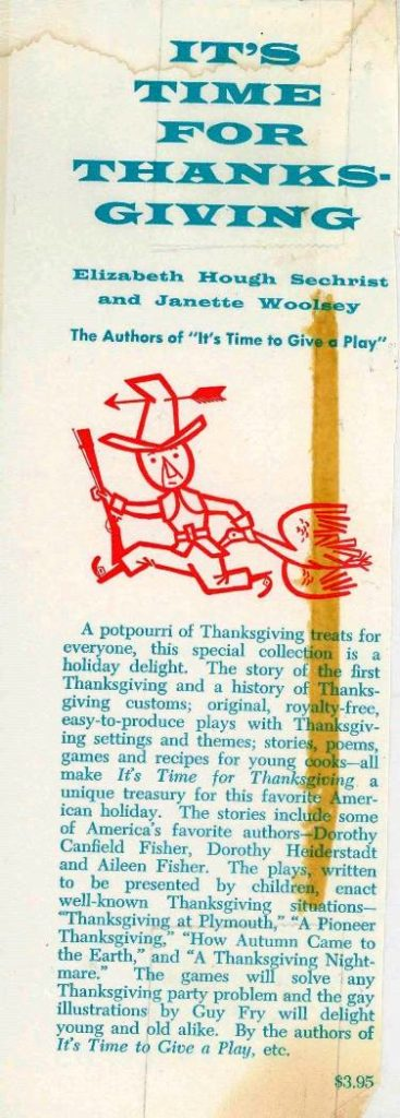 It time for Thanksgiving inside flap