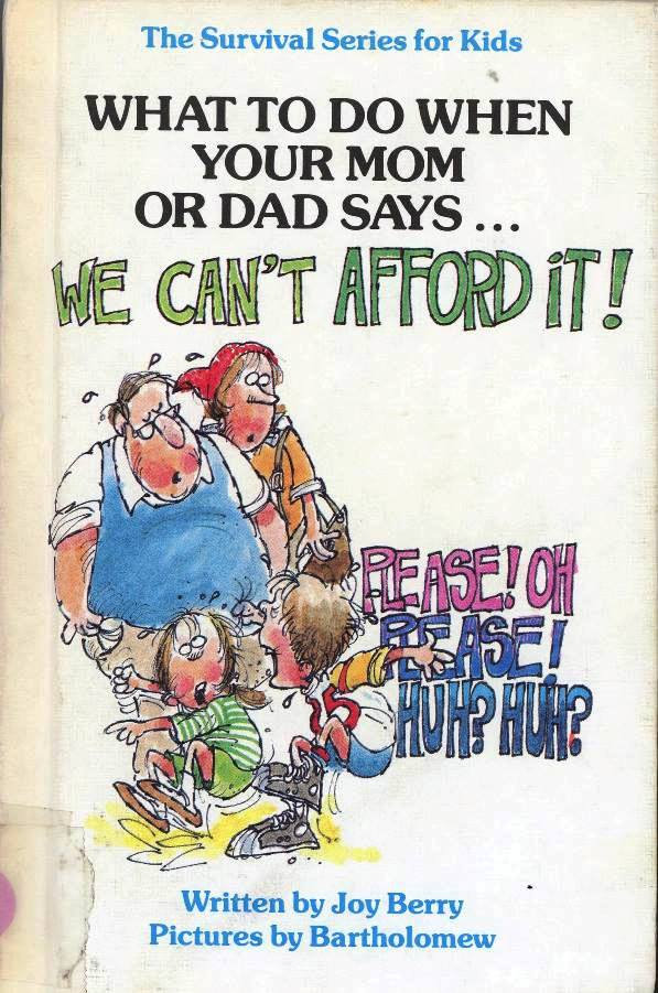 joy berry's book we can't afford it