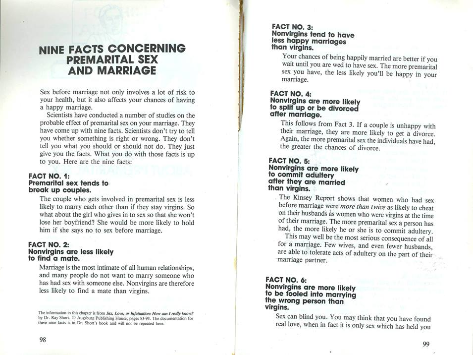facts about pre marital sex