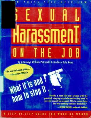 sexual harassment on the job cover