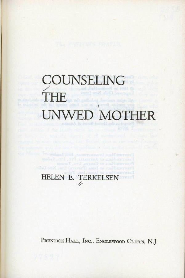 counseling the unwed mother