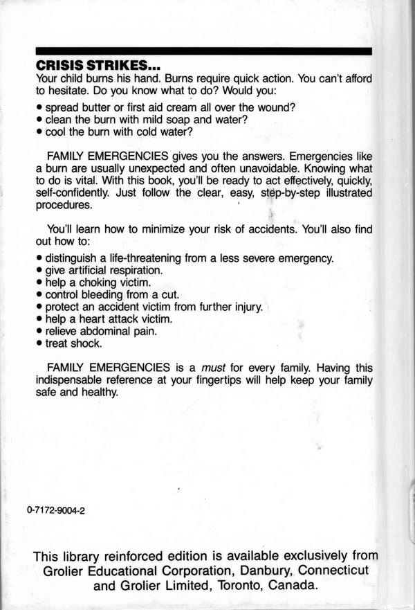back cover of family emergencies
