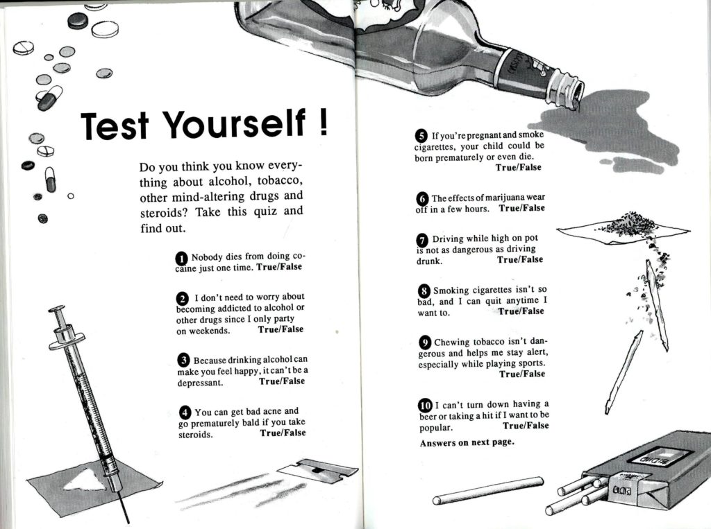 test yourself about drugs