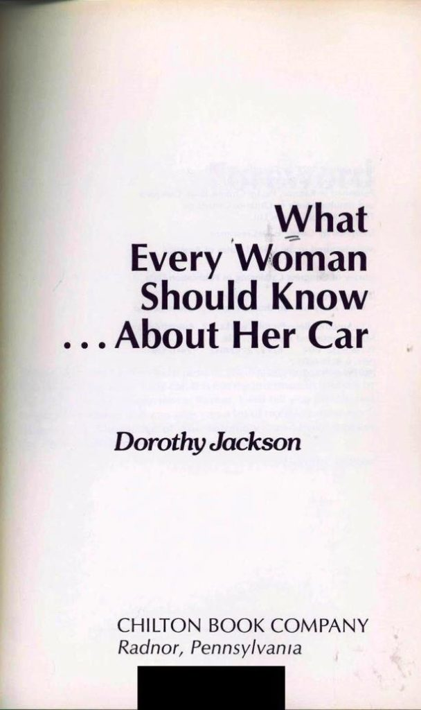 what every woman should know about her car