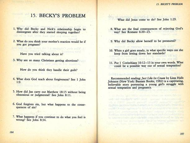 Becky's problem discussion questions