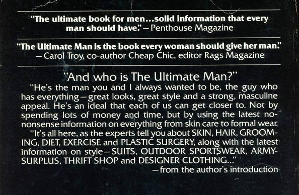 back cover of the ultimate man