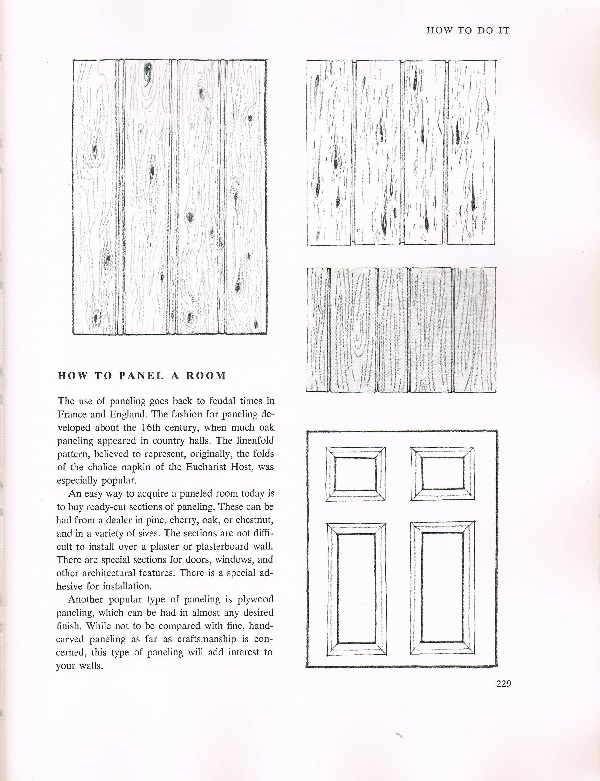 how to panel a room