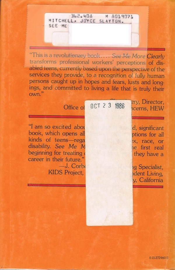 See Me More Clearly back cover