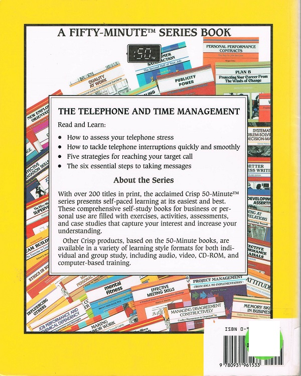Telephone and Time Management back cover