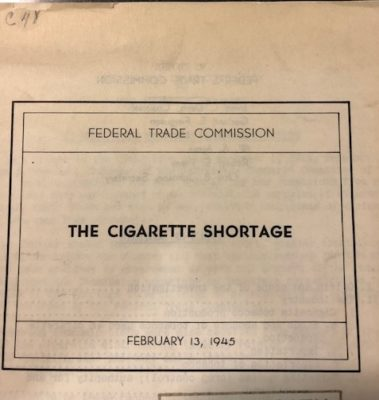 Cigarette Shortage cover
