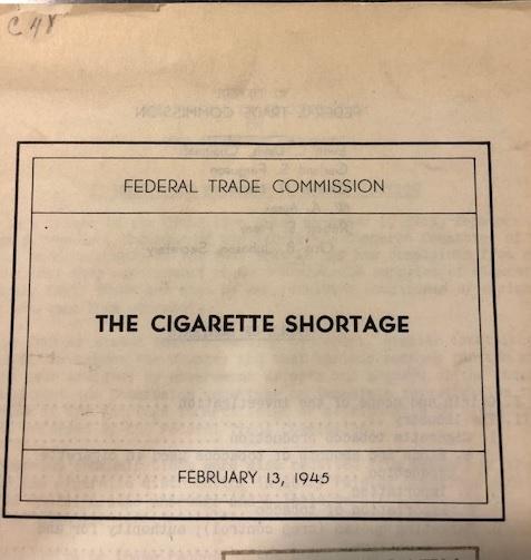 Cigarette Shortage cover