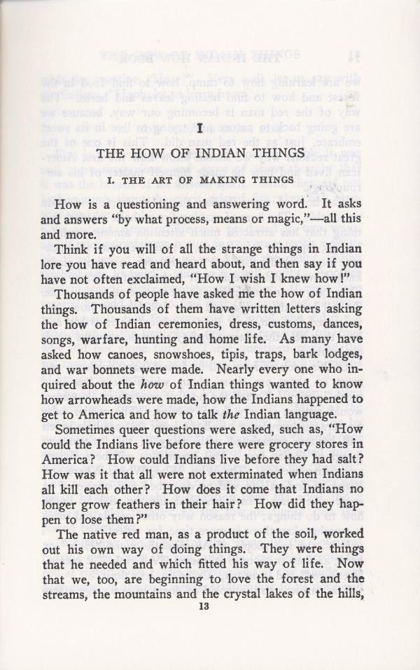 how Indians made things