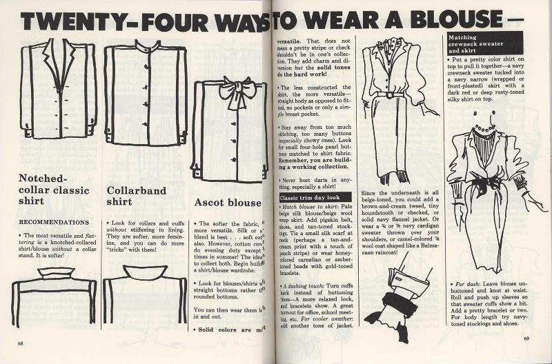 24 ways to wear a blouse