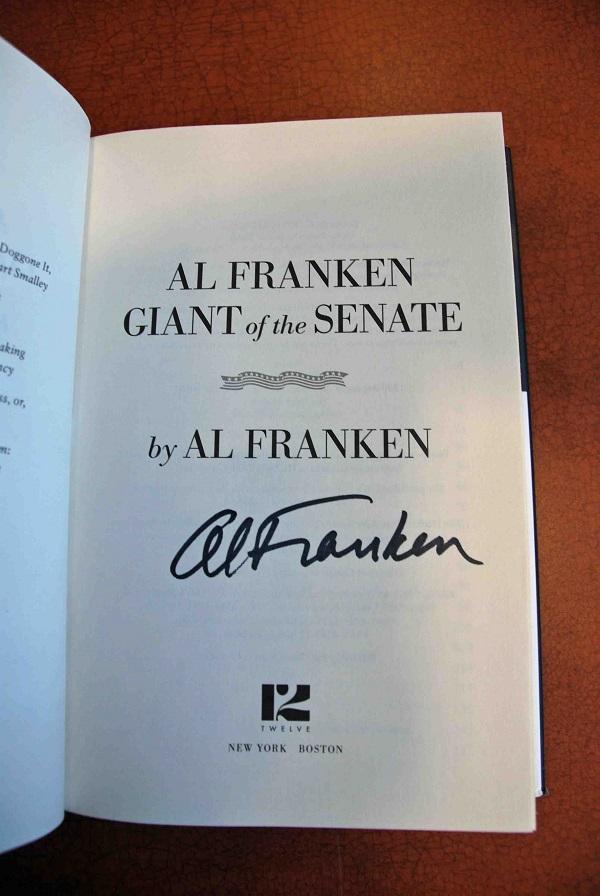 Al Franken autograph