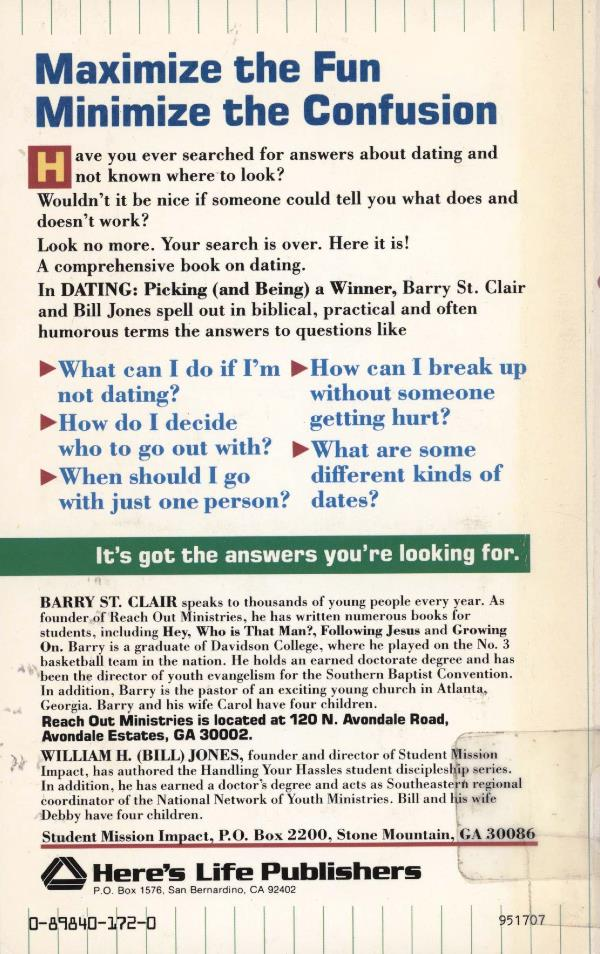 dating back cover