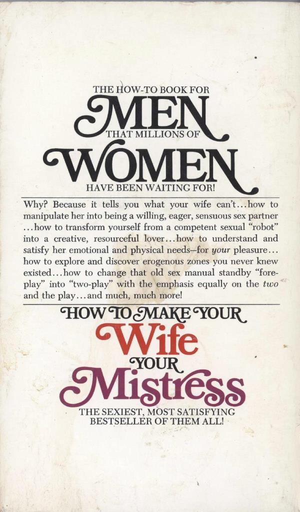 back cover wife into your mistress