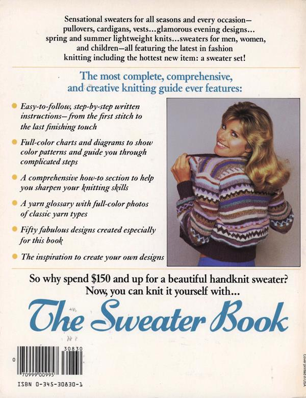 sweater book back cover