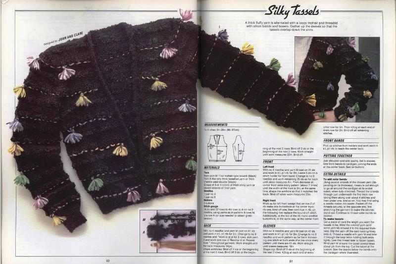 sweater with tassles
