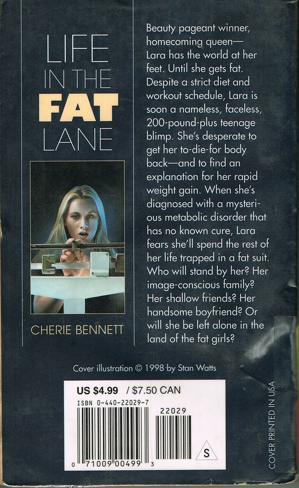 Life in the Fat Lane back cover