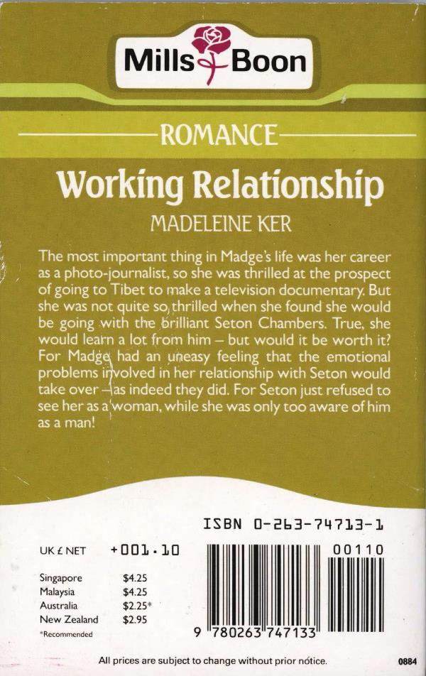 working relationship back cover