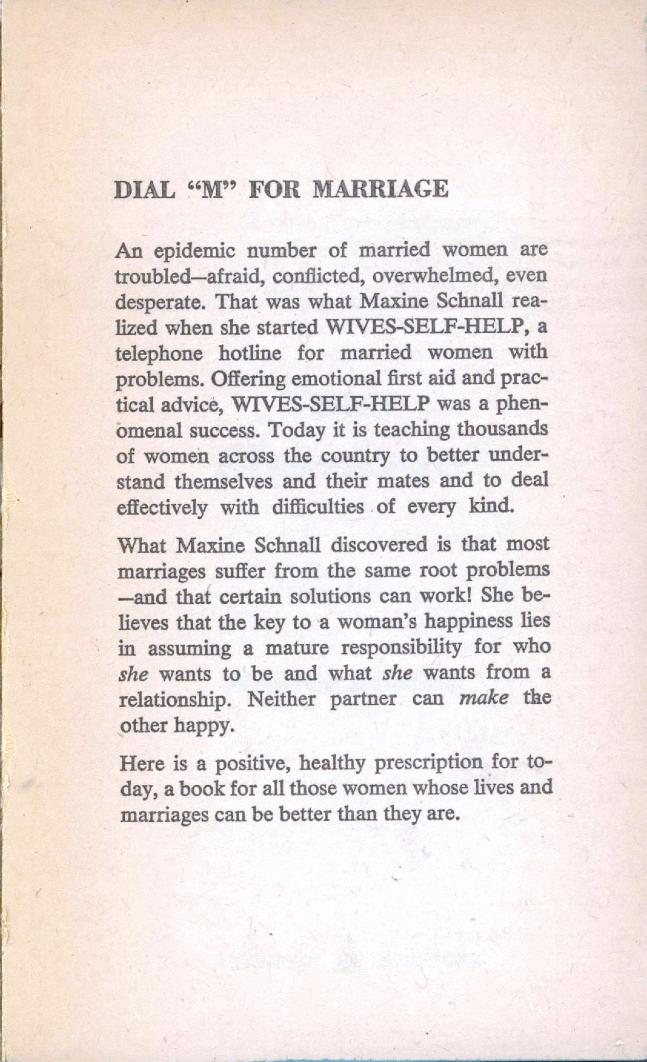 your marriage author statement
