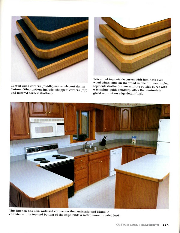 Making Plastic Laminate Countertops Back Cover Curved Wood Corners