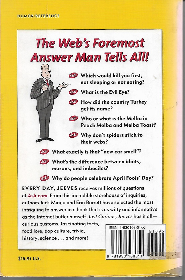 Jeeves back cover
