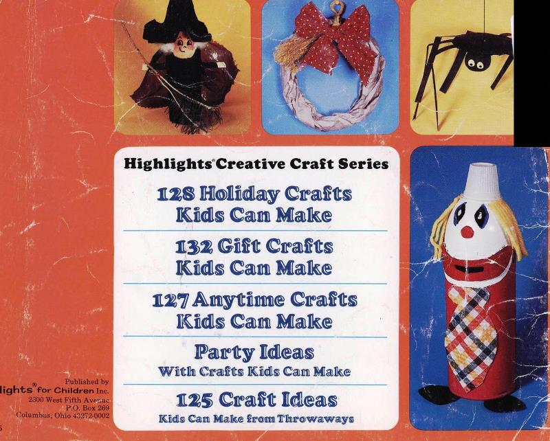 back cover of crafts