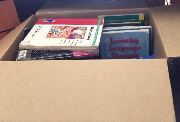 ESL box of books