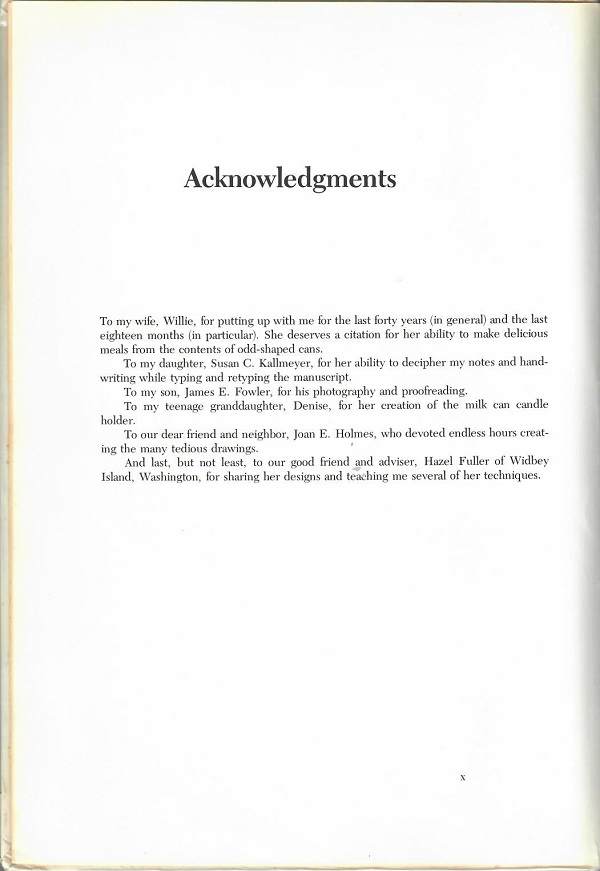 Can Crafts acknowledgements