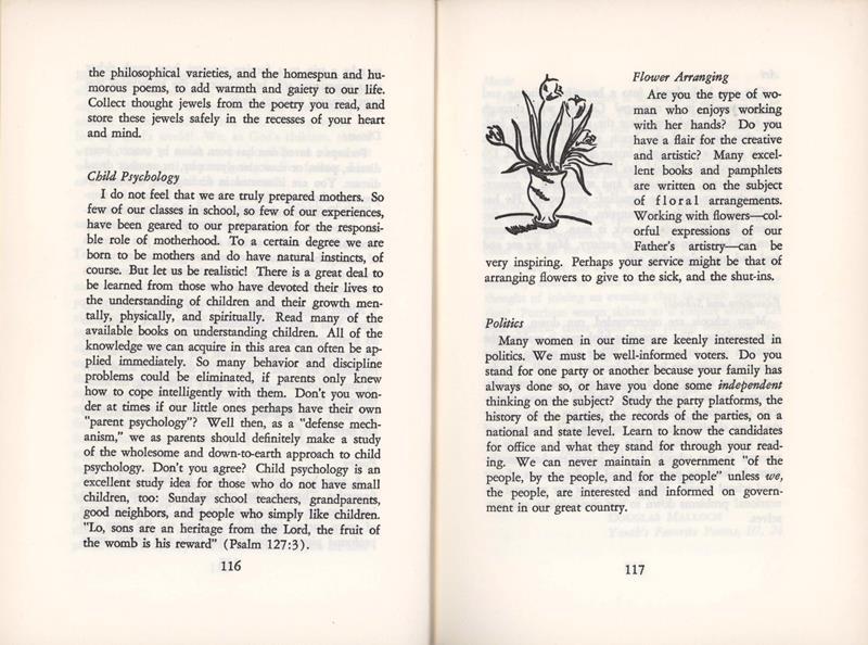 child psychology and flower arranging