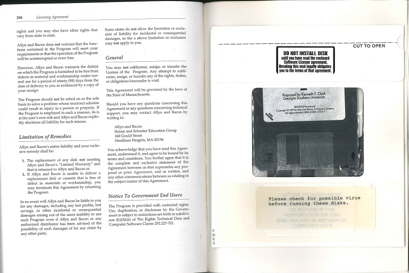 Right Book, Right Time floppy disk