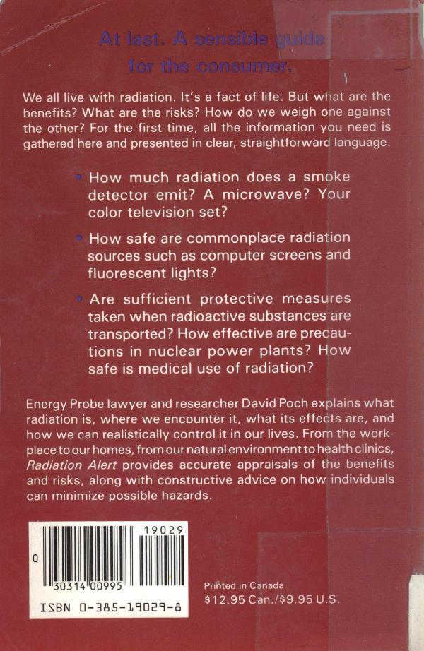back cover radiation alert book