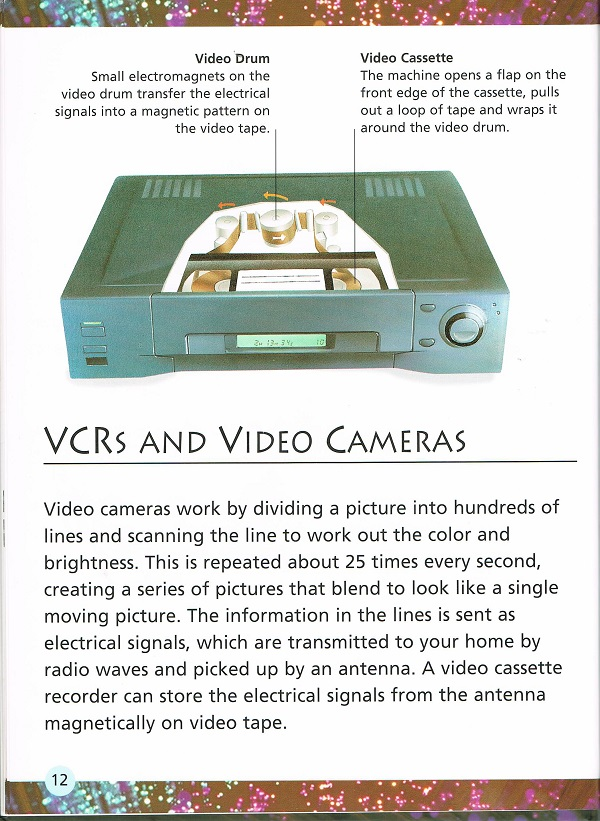 VCRs and video cameras