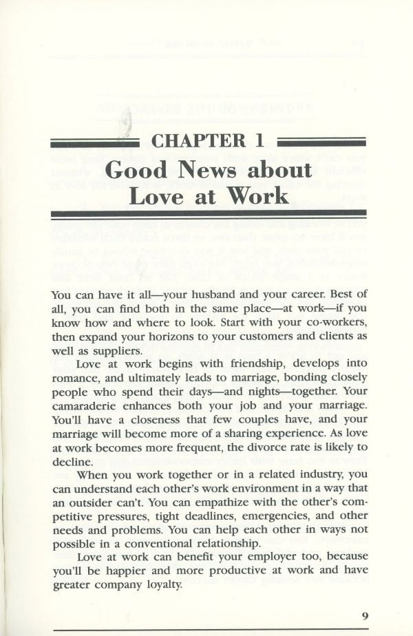 good news about work and relationships