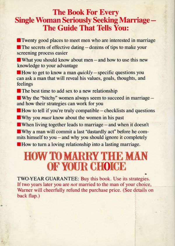 how to marry the man of your choice back cover