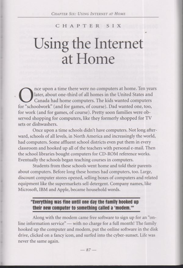 Internet at home